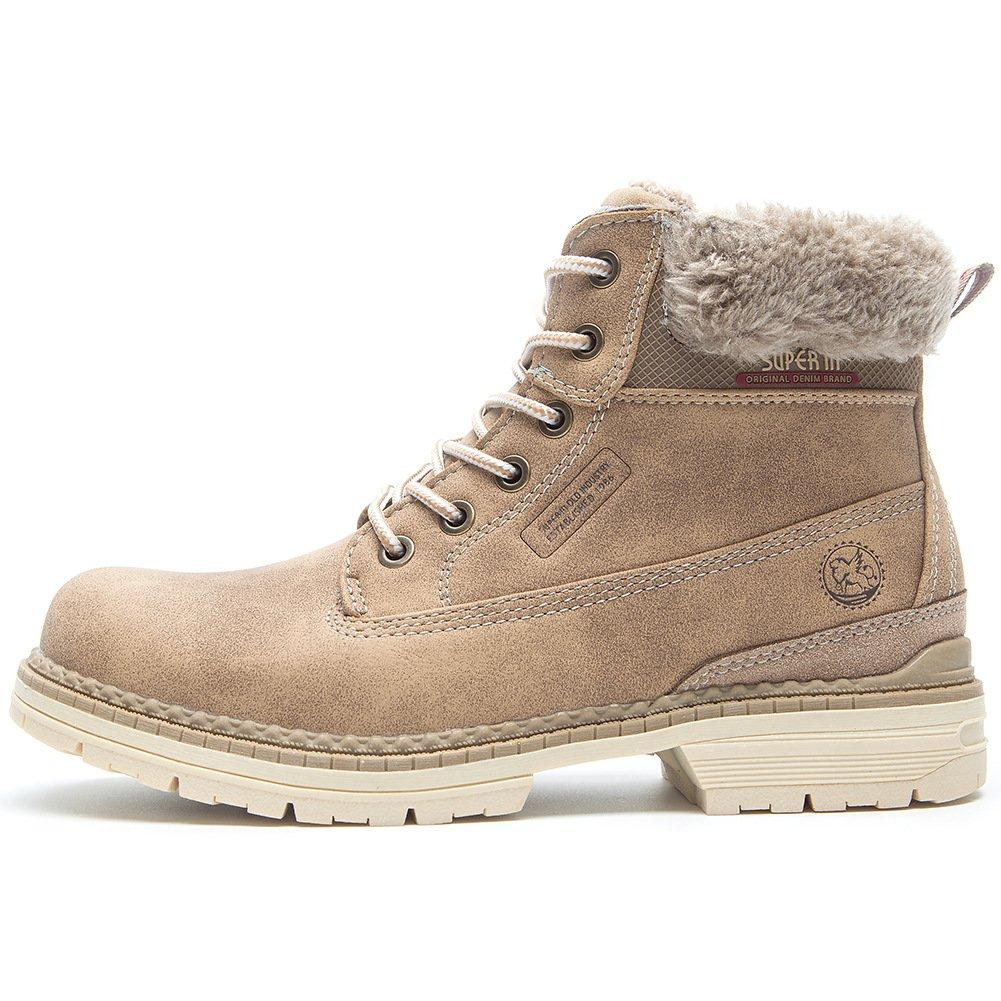 Cestfini Chaussures de Randonnée et Marche pour Femme Hiver - Plush Outdoor...