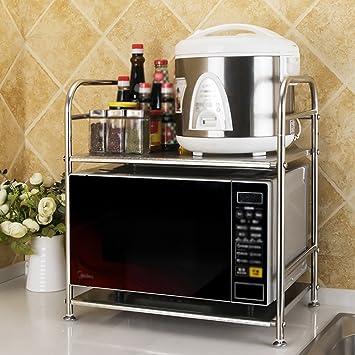 Estante LZ-Snail Accesorios de Cocina Racks de Cocina de Acero Inoxidable Multifuncional Horno de microondas Horno de Cocina Suministros de Almacenamiento ...