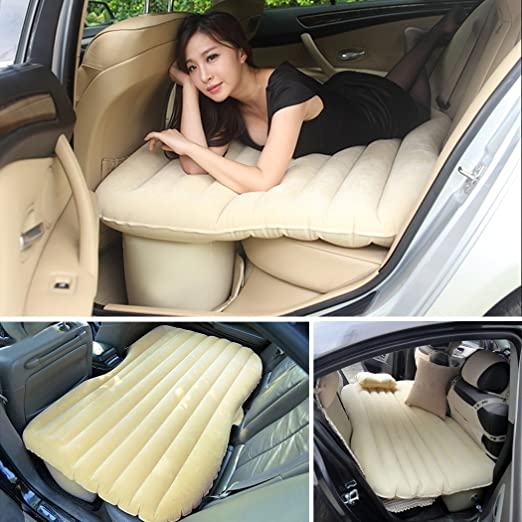 seat mattress with removable cushions and cushions inflatable outdoor car bed that inflates mattress extended back mattress for SUV and suitable for more than 90/% of cars Bianco Car air mattress