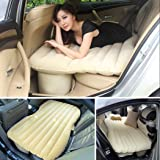 Heavy Duty Multi-functional Car SUV Inflatable Air Mattress Bed Back Seat Cushion With 2 Pillows and Pump For Travel Camping Beach Rest Tour Trip Park Lawn Picnic