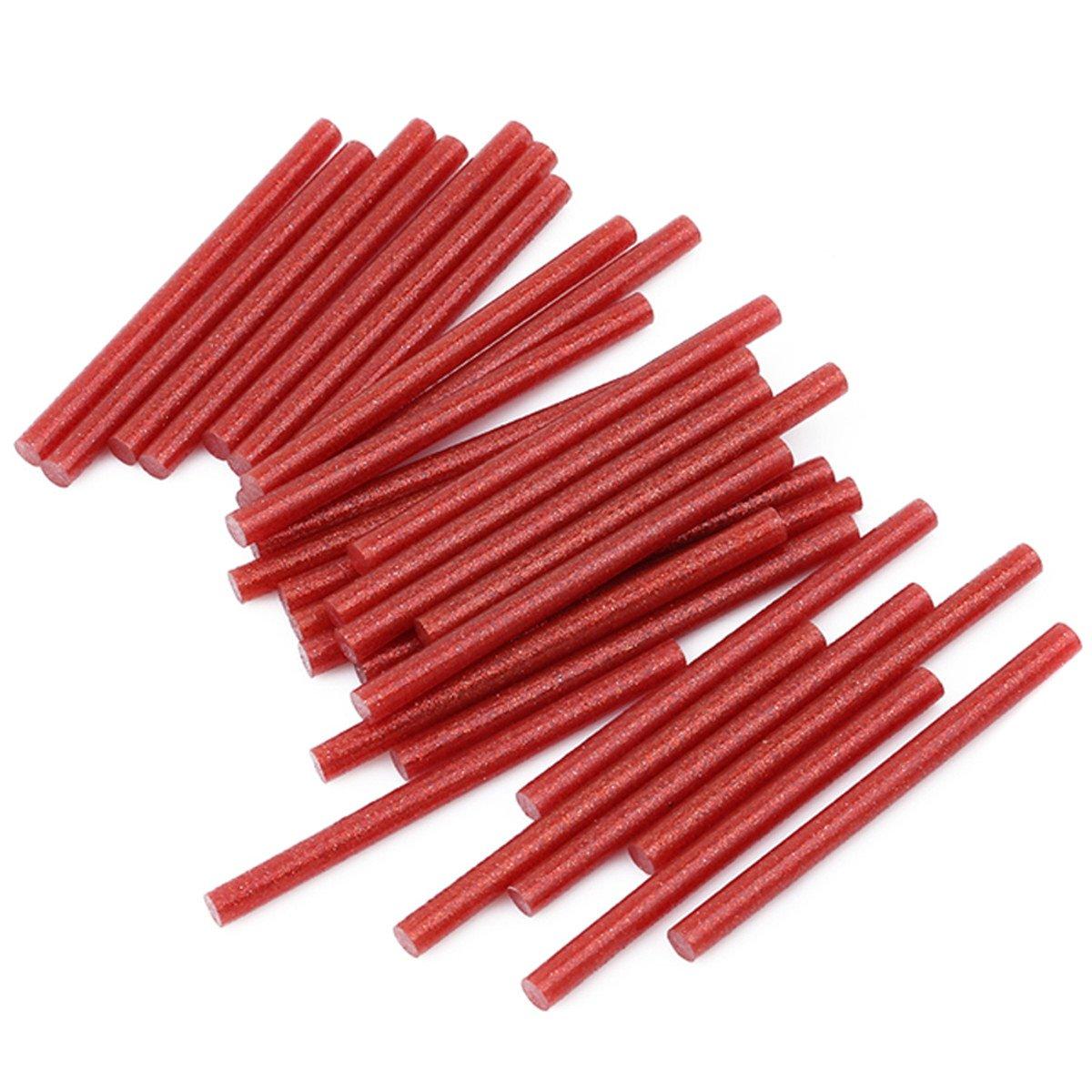 Red CH 30 Sticks Hot Glue Glitter Adhesive Glue Sticks,7x100mm