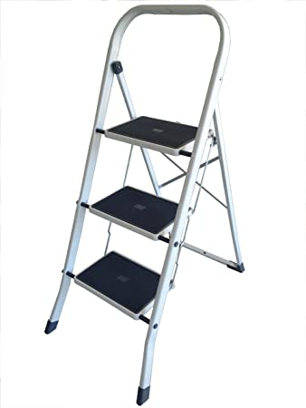Altimat 000AP3 Artuplat - Escalera de mano (3 peldaños), color blanco: Amazon.es: Bricolaje y herramientas