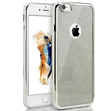 e1725e1a60d9 Sycode Coque Housse Etui pour iPhone 5S,Silicone Housse Etui pour iPhone  SE,Bling
