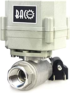 "BACOENG 1/2"" DN15 110VAC Stainless Steel Motorized Ball Valve,NC Electrical Ball Valve"