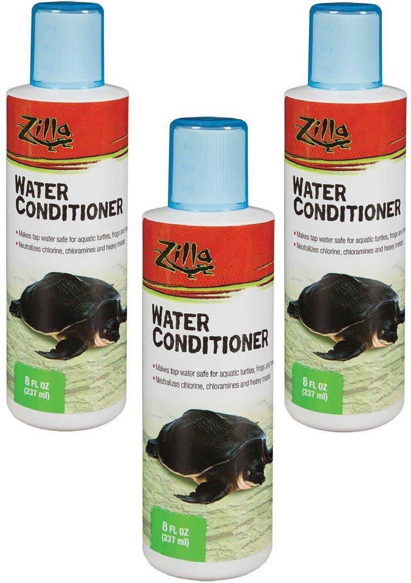 (3 Pack) Zilla Reptile Terrarium Aquatic Water Conditioner, 8-Ounce each