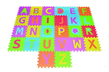 Superior Alphabet Puzzle ABC Play Mat 26 Tiles EVA Foam Kids Rainbow Floor By Poco  Divo