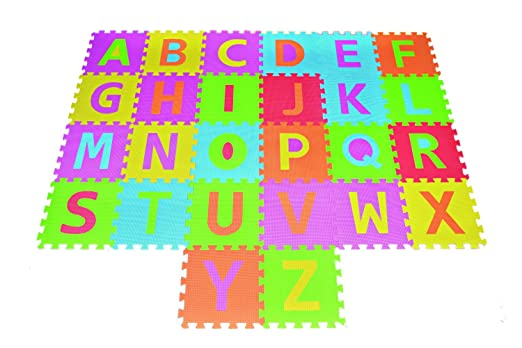 POCO DIVO Alphabet Puzzle ABC Play Mat 26 Tiles EVA Foam Kids Rainbow Floor