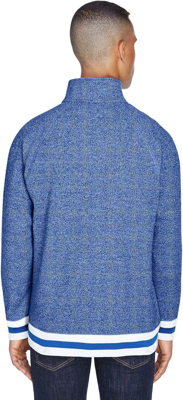 America Adult Peppered Fleece Quarter-Zip J JA8703