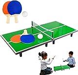 Kids Miniature Table Tennis Set 60 x 30cm Table-top Ping Pong Ball Net 2  sc 1 st  Amazon UK & Indoor Mini Office Desktop Ping Pong Table Tennis Set: Amazon.co.uk ...