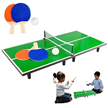 Kids Miniature Table Tennis Set 60 x 30cm Table-top Ping Pong Ball Net 2  sc 1 st  Amazon UK & Kids Miniature Table Tennis Set 60 x 30cm Table-top Ping Pong Ball ...