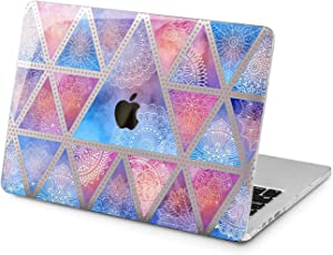 "Cavka Hard Shell Case for Apple MacBook Pro 13"" 2019 15"" 2018 Air 13"" 2020 Retina 2015 Mac 11"" Mac 12"" Mandala Plastic Geometric Boho Cover Print Minimal Triangle Laptop Protective Design Abstract"