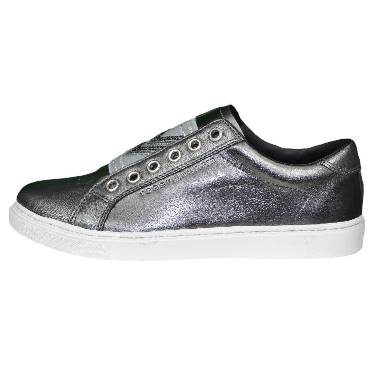 3f1b16cb3b0860 Tommy Hilfiger Women s Trainers Grey Size  8 UK  Amazon.co.uk  Shoes ...