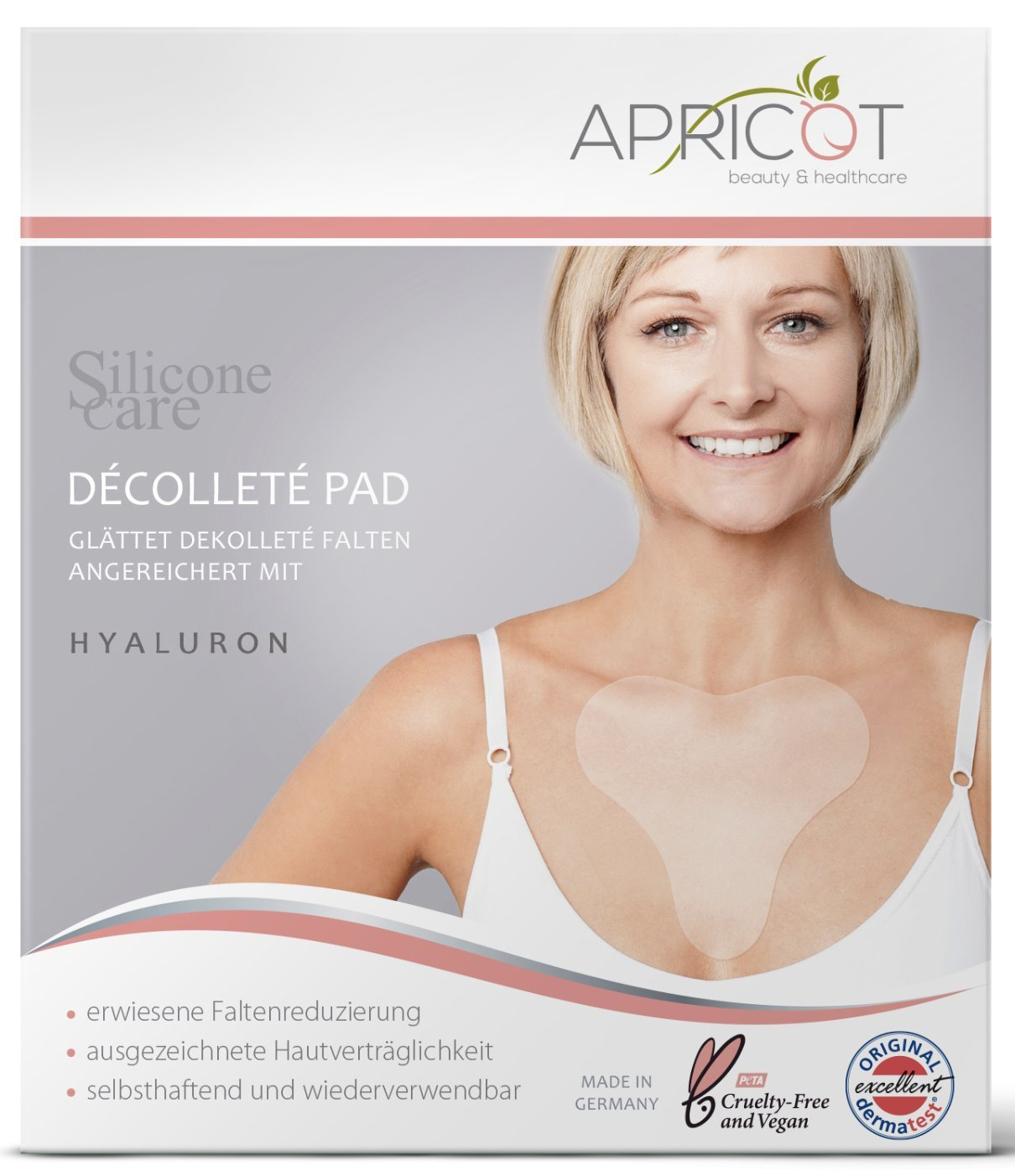 71793ad734005 NEW Silicone care Premium Décolleté Pad with Hyaluron! Original APRICOT  Product