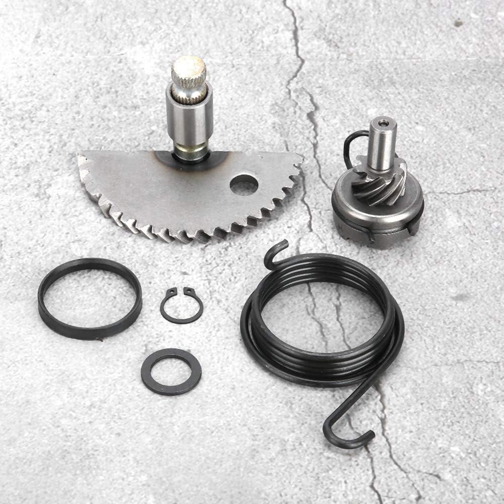 conjunto de conjunto de engranaje loco del eje de arranque de aluminio para GY6 50CC 80CC 139QMB Scooter ciclomotor Qii lu Conjunto de engranaje de arranque r/ápido