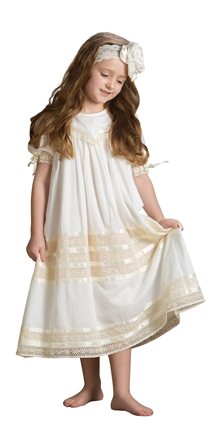 f648a90de6d4 Amazon.com  Strasburg Children Girls Lace Flower Girl Dress Vintage ...