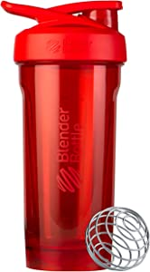 BlenderBottle Strada Tritan Shaker Bottle with Locking Lid, 28-Ounce, Red