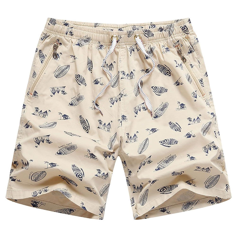 CHIYEEE Homme Pantalon de Sport Court Short Taille Élastique Pants Casual  Imprimé Short de Plage Bain 6308d902f66