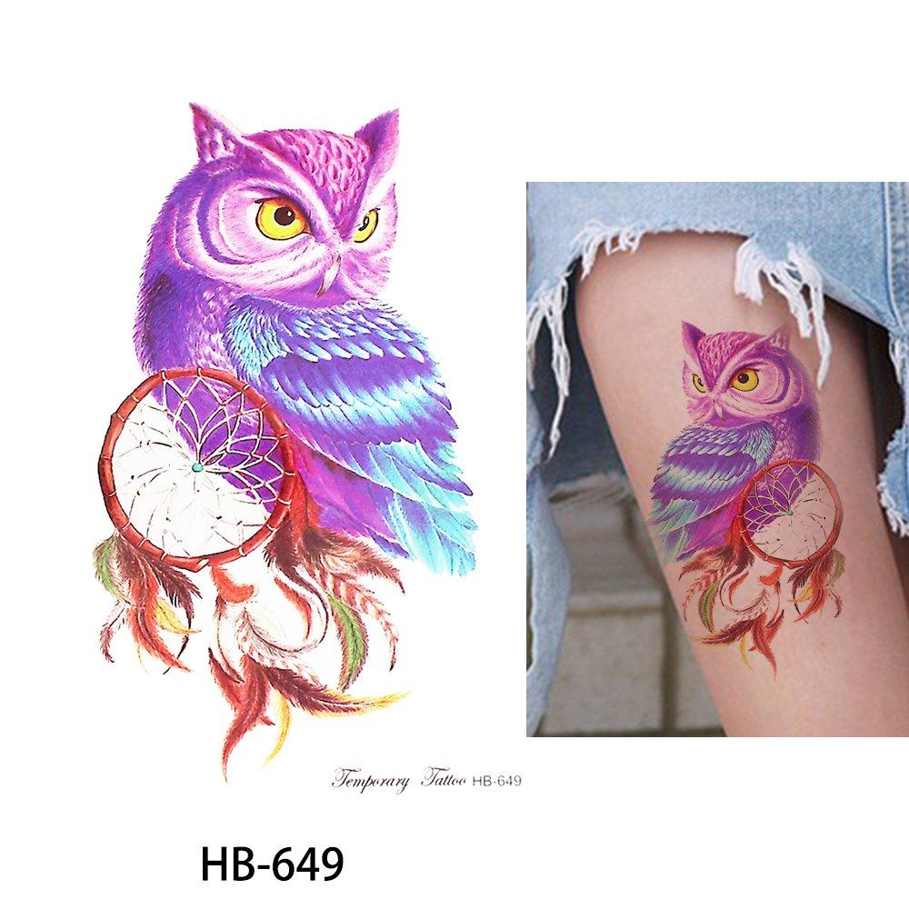 oule atrapasueños Tattoo Multicolor/Colores Fake Tattoo joyas ...