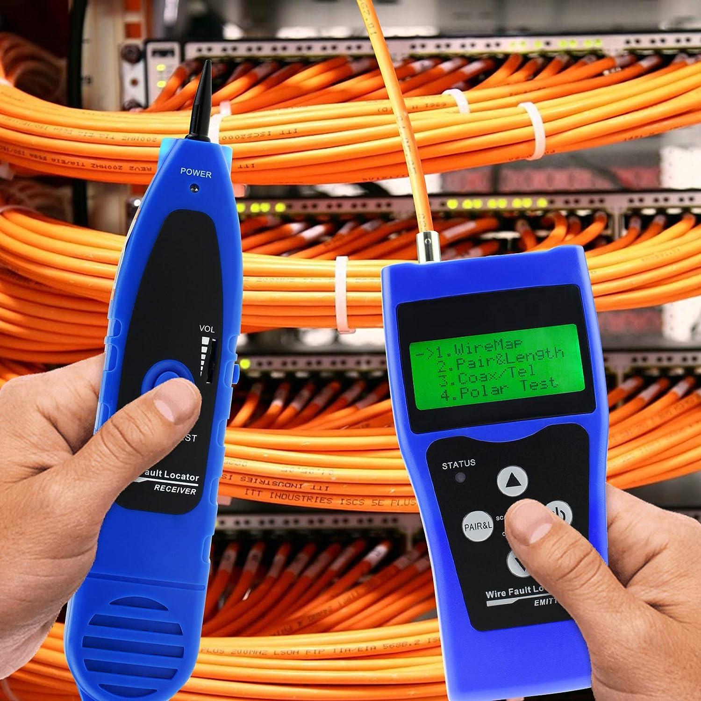 DANOPLUS Red Cable Longitud Ensayador BNC Cable Error Detector Teléfono RJ11 Coaxial Cable Ensayador USB Wire Rastreador Cazador Polaridad Ensayador: ...