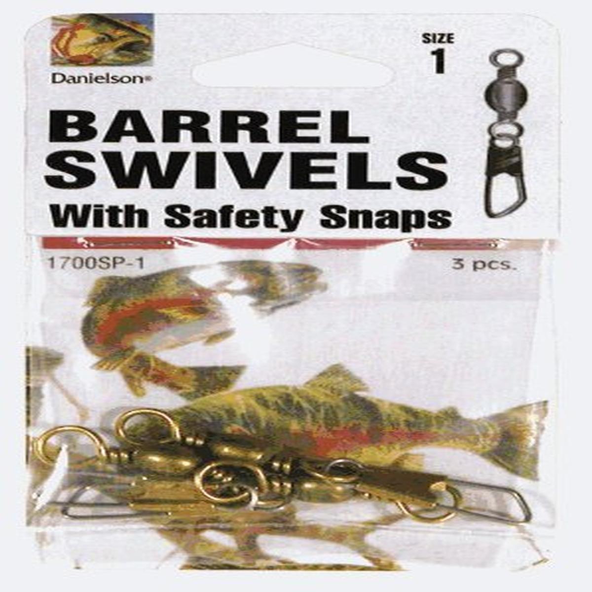 ダニエルソンSwivelsバレルW/安全スナップS fishing-equipment   B0000AUWHR