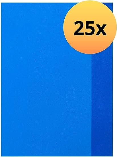 5 Heft Umschläge blau Hülle Schoner DIN A4 durchscheinend Schutz Umschlag Folie
