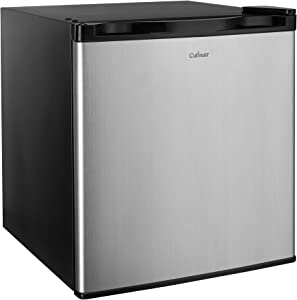 Culinair AF160S 1.6 Cubic Feet Compact Refrigerator, Black, 1.6Cu.', Silver and Back