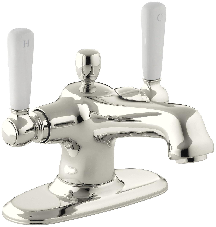 Kohler K 10579 4p Bv Bancroft Monoblock Lavatory Faucet With White