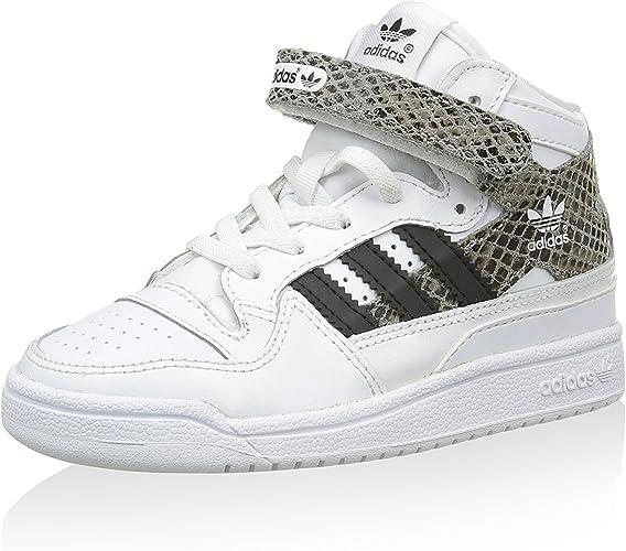 adidas Forum Mid Snake El I, Zapatillas Infantil, Blanco/Marrón/Negro, 27 EU: Amazon.es: Zapatos y complementos
