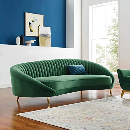 Modway Camber Channel Tufted Performance Velvet Sofa