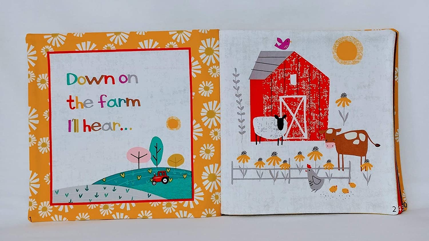 Wildflower Farm Soft Cloth Books for Baby and Children