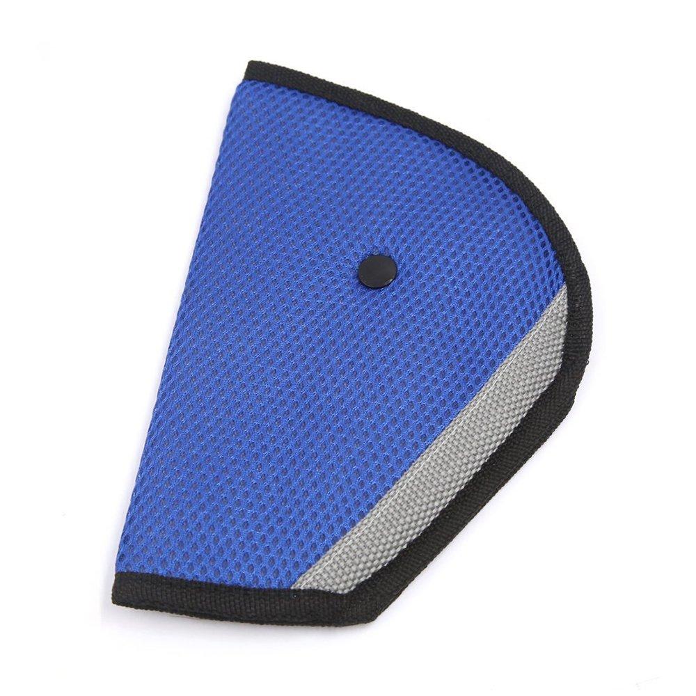 Little Sporter Kinder Schulterkissen überdimensional Auto Sicherheitsgurt Abdeckung für eine korrekte Gurtführung für Kinder Sicherheitsgurteinsteller für die Sicherheit Ihrer Kinder Blau