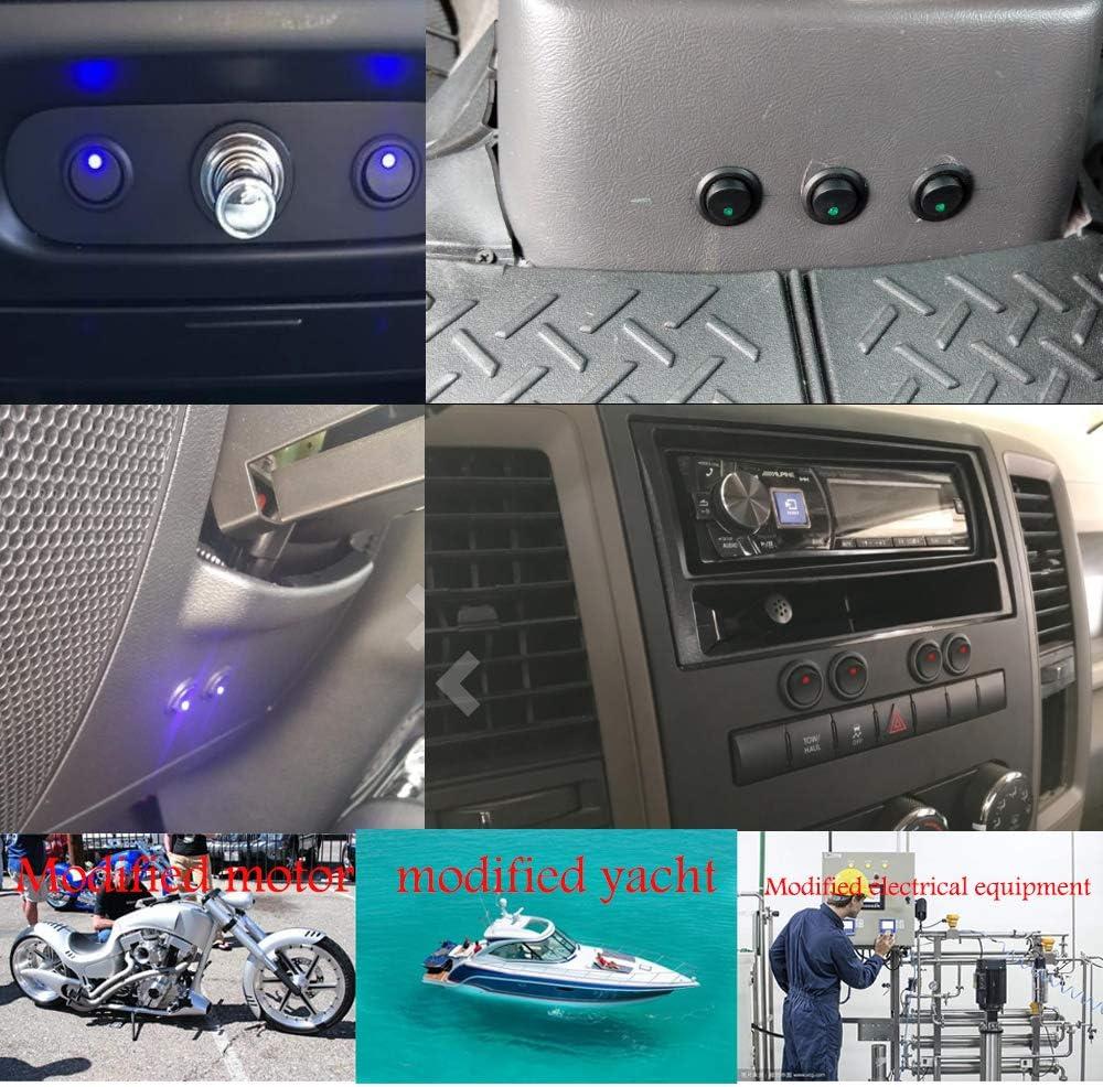 Sunmns 12er Pack Aluminium Reifen Stem Ventilkappen Luftabdeckung f/ür Auto Motorrad Fahrrad blau
