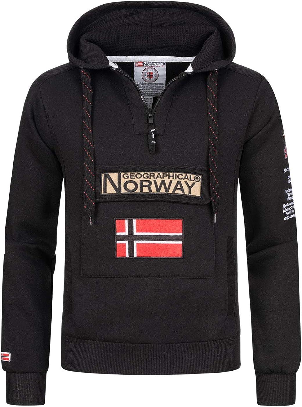 Geographical Norway Sudadera DE Hombre GYMCLASS A Negro L