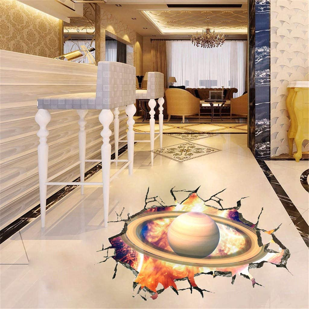 YWLINK Personalidad Espacio De La Pared Rota Planeta Vinilo Dormitorio Sala De Estar Oficina del Techo Dormitorio Etiqueta De La Pared Removible Calcoman/íAs Murales Decoraci/óN del Arte