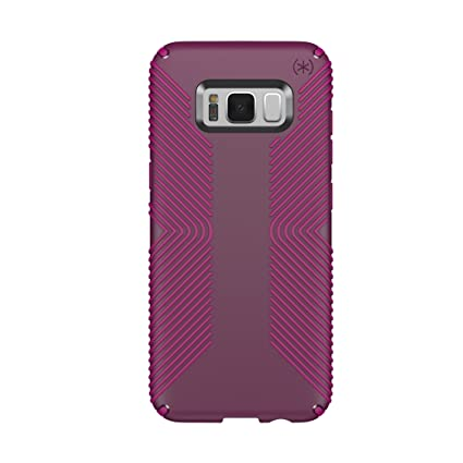 sale retailer 0a98d 39eb4 Speck Products Presidio Grip Cell Phone Case for Samsung Galaxy S8-Syrah  Purple/Magenta Pink