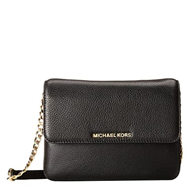 ccbbbdab6e805 MICHAEL by Michael Kors Bedford Black Double Gusset Cross Body Bag one size  Black