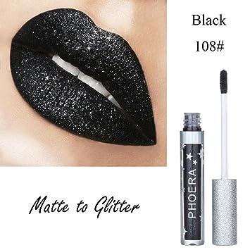 31964e8bd64c Esharing New Long-lasting Matte To Glitter Liquid Lipstick Waterproof Lip  Gloss Beauty Makeup...
