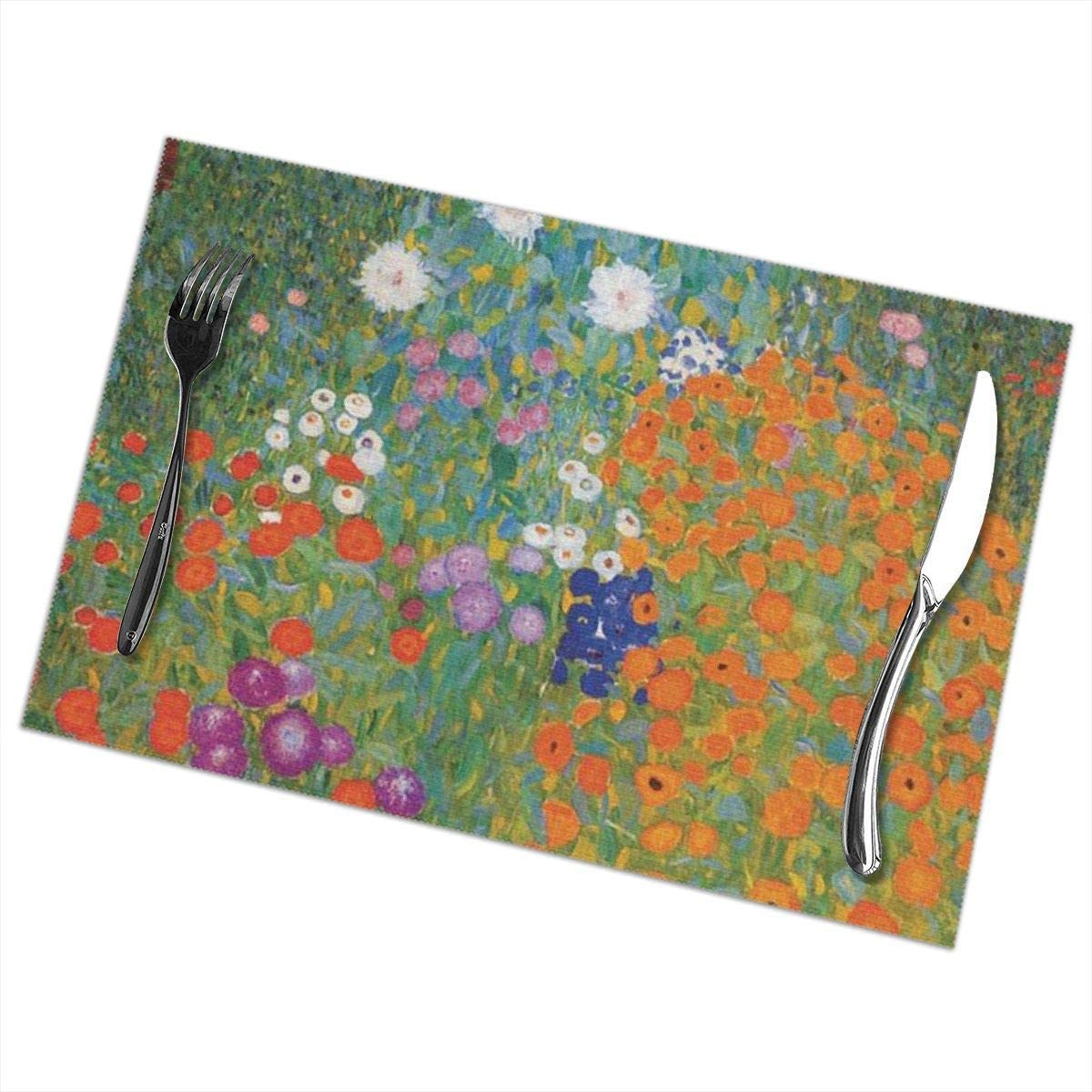 Amazon.com: NIU7A7A7 Cottage Garden Placemats for Dining Table Set