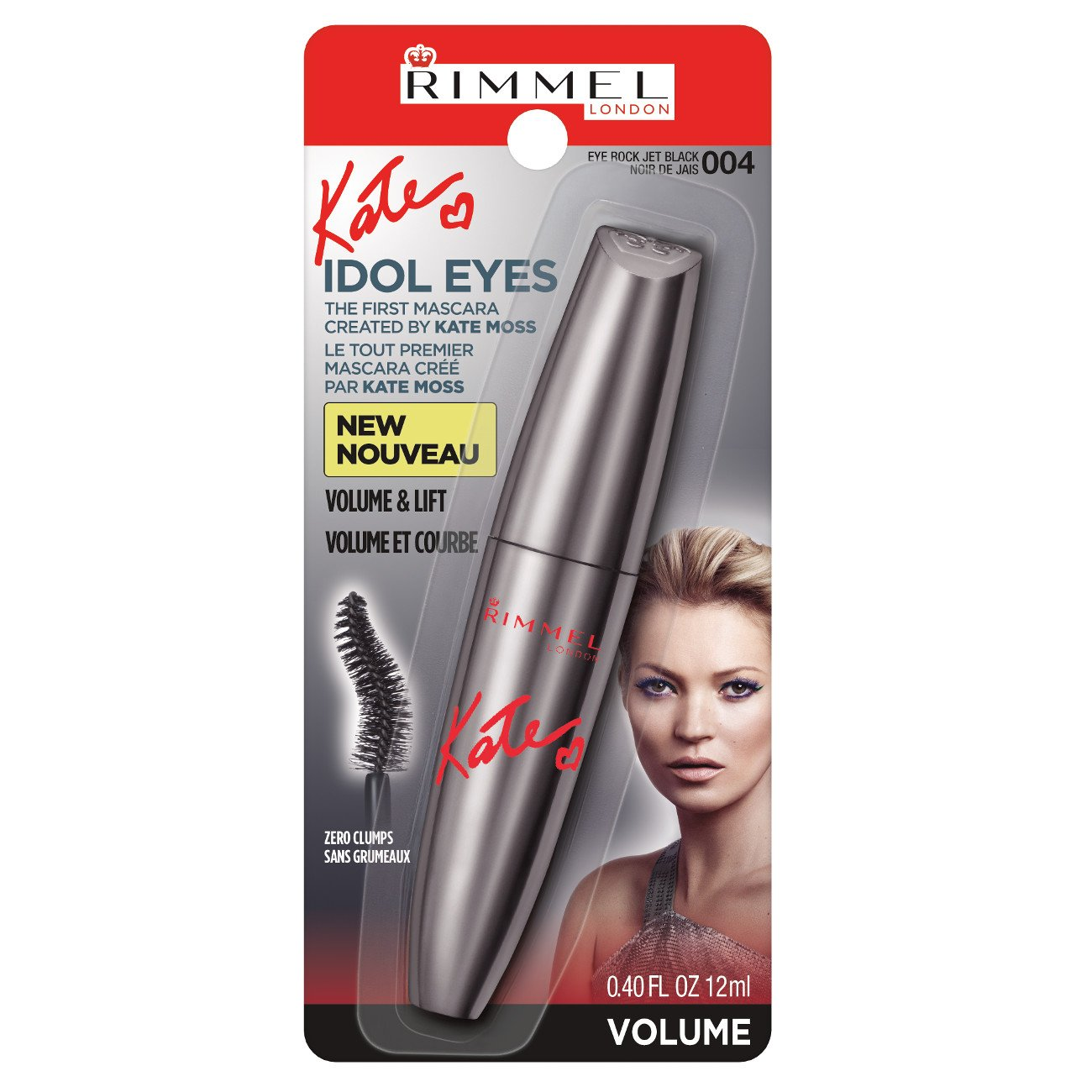 342489b2baf Rimmel Kate Idol Eyes Mascara Eye Rock - Jet Black: Amazon.co.uk: Beauty