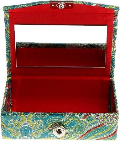 IPOTCH Estuche de Almacenaje Porta de Brillo de Labios Recipientes Pintalabios Caja con Espejo - Verde: Amazon.es: Hogar
