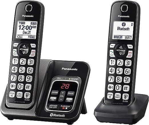 Panasonic kx-tgd562 m link2cell Bluetooth teléfono inalámbrico con asistencia de voz y contestador automático – 2 teléfonos inalámbricos (Certificado Reformado): Amazon.es: Electrónica