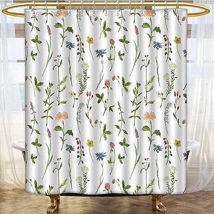 Curtains 92 Inches Long.Amazon Com Amapark Rust Metal Grommets Shower Curtain