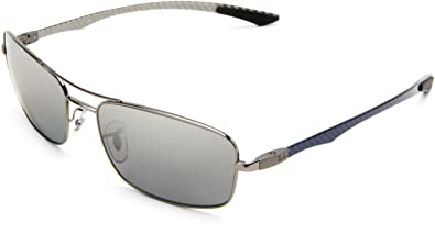 0ac529aff0 Ray-Ban RB8309 - GUNMETAL Frame POLAR GRAY MIRROR SILVER GRAD. Lenses 59mm  Polarized