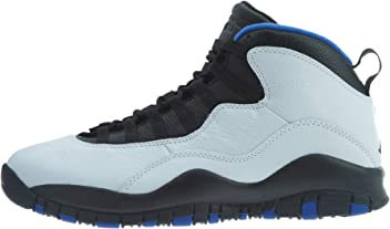 Jordan Mens Air 10 Retro Basketball Shoes (12, White/Blue)