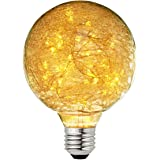 Judy Lighting - G95 LED Edison Bulb Decorative Starry String Light Bulb E26 Glass Fairy Light