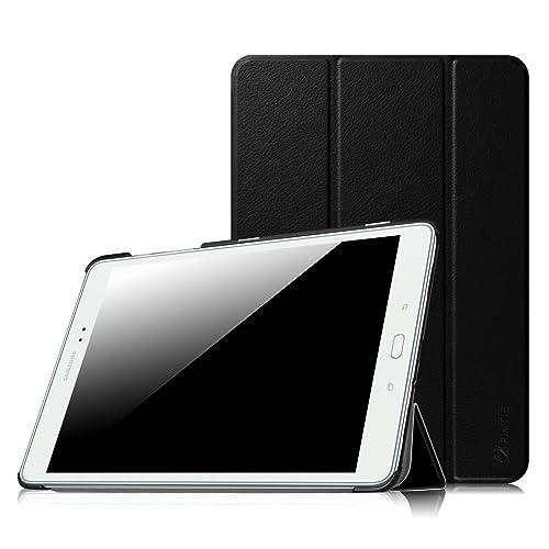 """Fintie Samsung Galaxy Tab A 9.7 Étui Housse - Slim Fit PU Cuir étui Coque Case Cover Support Ultra-Mince Léger la Fonction Sommeil/Réveil Automatique Samsung Galaxy Tab A Tablette 9,7"""" Pouces, Noir"""