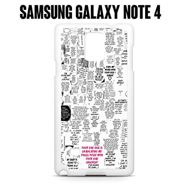 Phone Case Japanese Anime Quotes For Samsung Galaxy Note 4 Plastic White Ships From CA