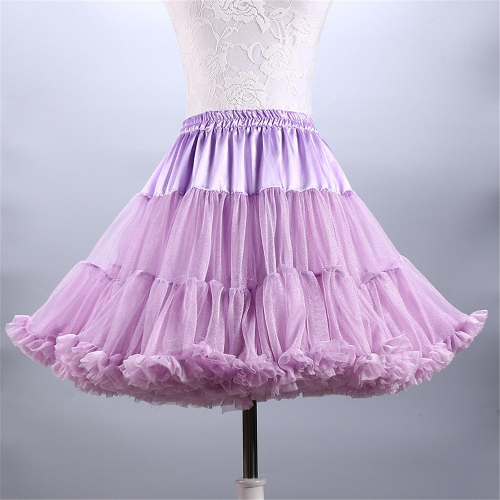 4b515e5e7a Aimeely Lovely Women Adult Fluffy Ballet Party Petticoat A line Short Tutu  Skirt 1# at Amazon Women's Clothing store: