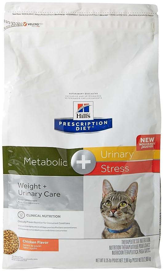 HillS Prescription Diet Metabolic + Urinary Stress Feline Cat Food 6.35 Lb (2.88 Kg) Bag, Small