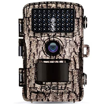 Foxelli Trail Camera – 14MP 1080P Full HD Wildlife Scouting Hunting Camera